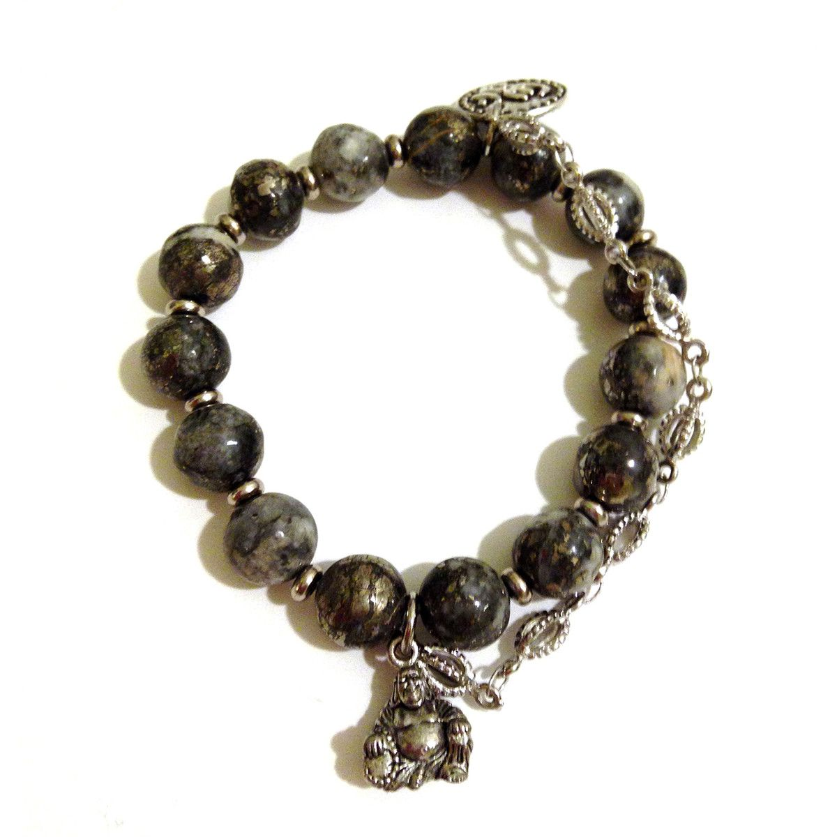 Pyrite Buddha Bracelet by Guilty jean.