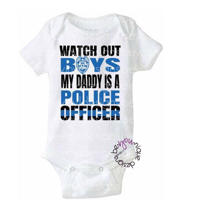 My Daddy Can Arrest Yours Gerber OnesiePolice Officer Cop Law Baby Romper