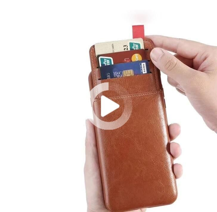 Leather Hidden Pull-out Wallet Case For IPhone 6, 6 Plus