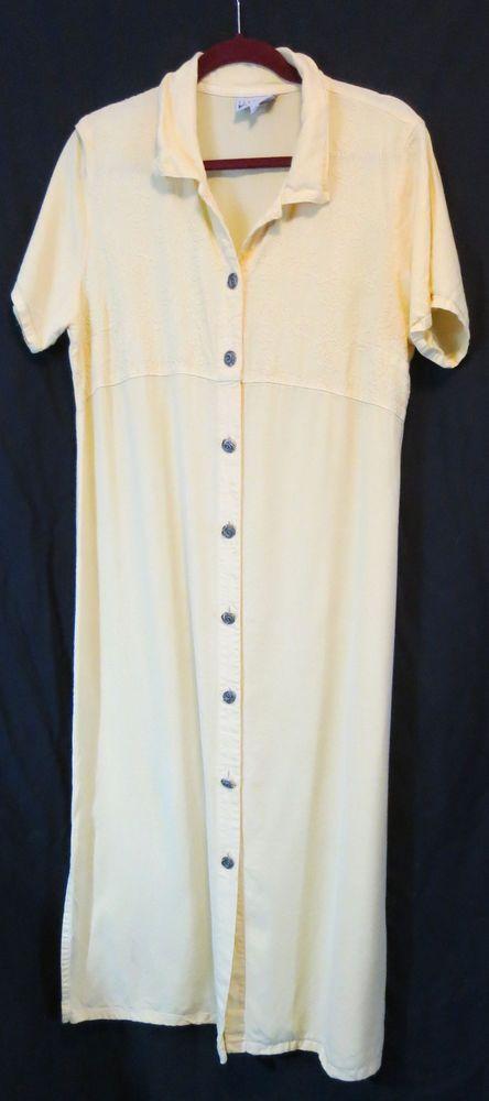 32e2a305c8b437 Nannette Keller Petites PM Yellow Dress Mid Calf Casual Mid Calf Solid   NannetteKellerPetites  ShirtDress  Casual
