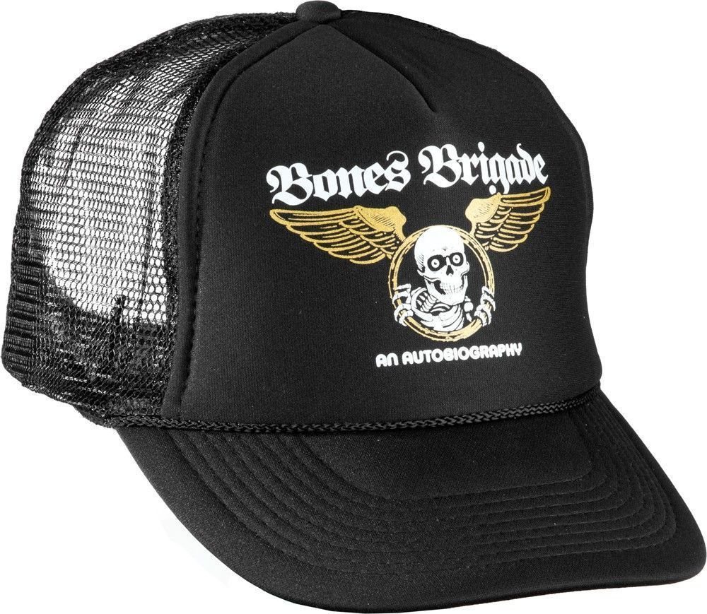 Clothing Shoes and Accessories 159077  Powell Peralta Bones Brigade An  Autobiography Logo Skateboard Trucker Hat 73cbf8c2dc4
