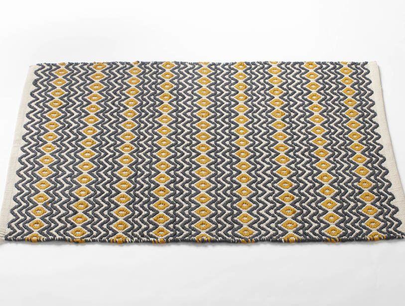 Coyuchi Wave Bath Mat Rugs, Cotton bath rug, Natural