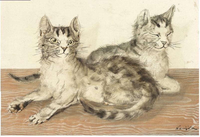 The Great Cat On Watercolor Cat Cat Art Animal Paintings