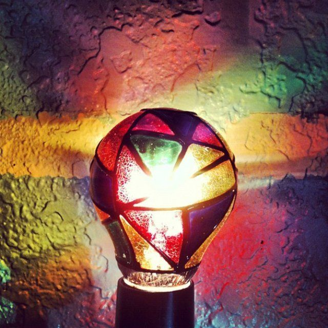 Stained Glass Light Bulb 8 Stained Glass Light Glass Bulbs Light Bulb