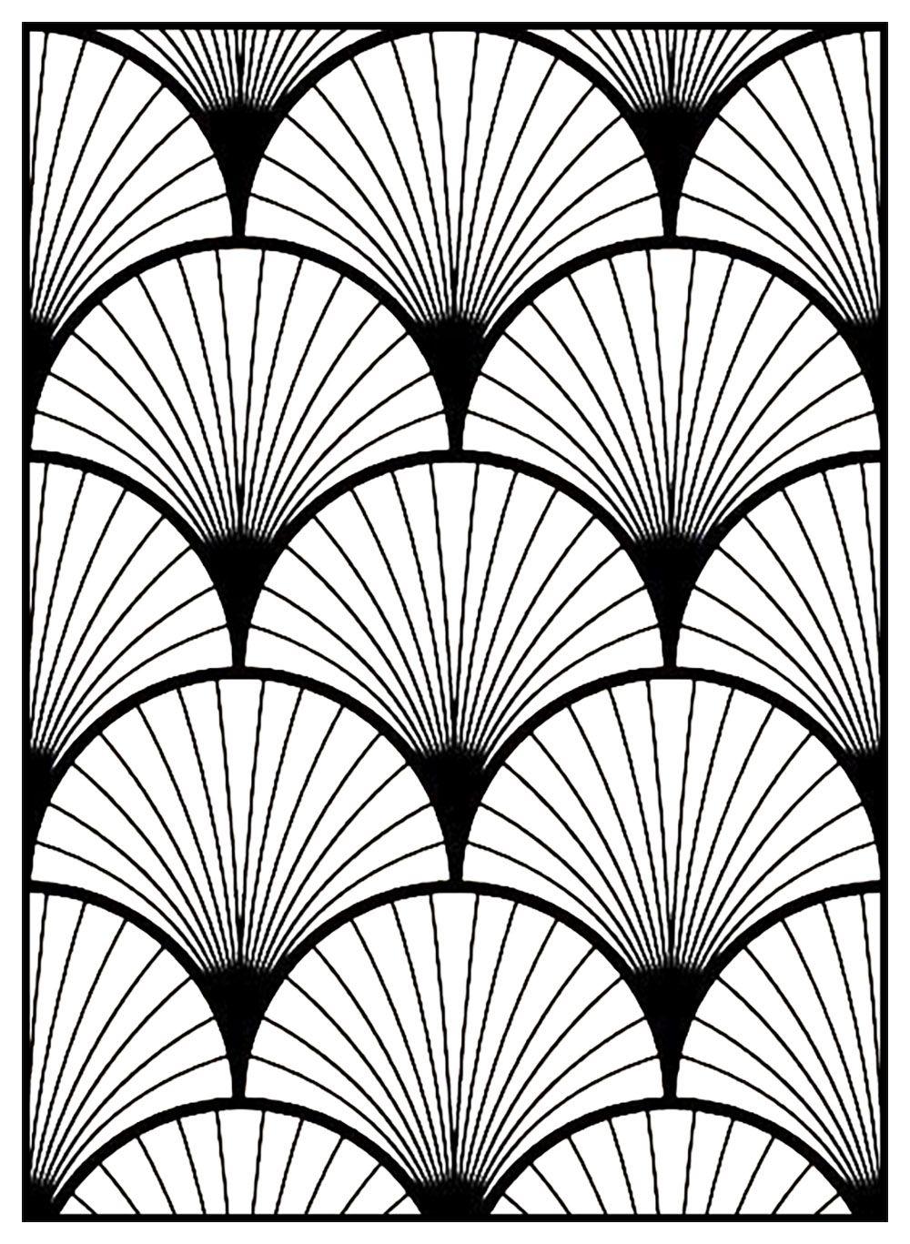 Motifs Geometriques Art Deco 3 Coloriages Art Deco Just Color