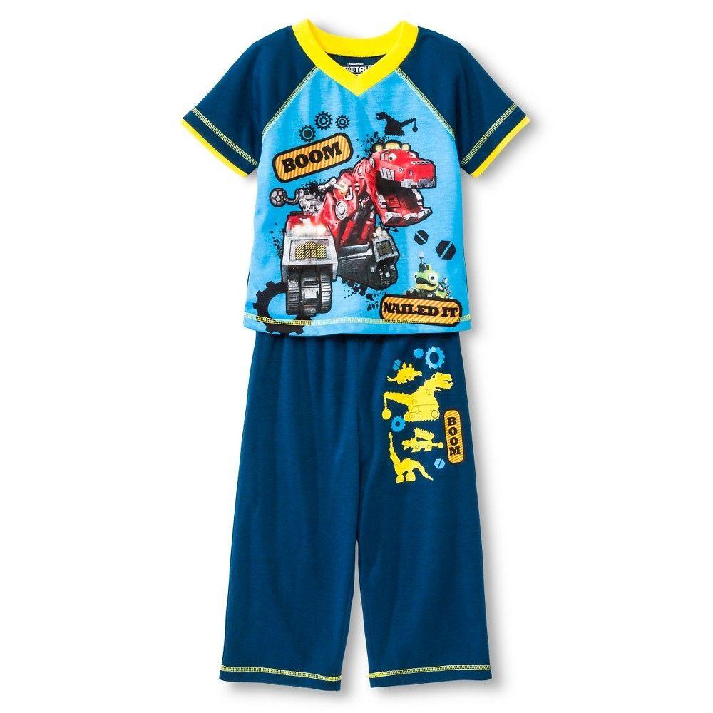 Dinotrux Toddler Boys' 2-Piece Pajama Set - Blue 4T, Toddler Boy's ...