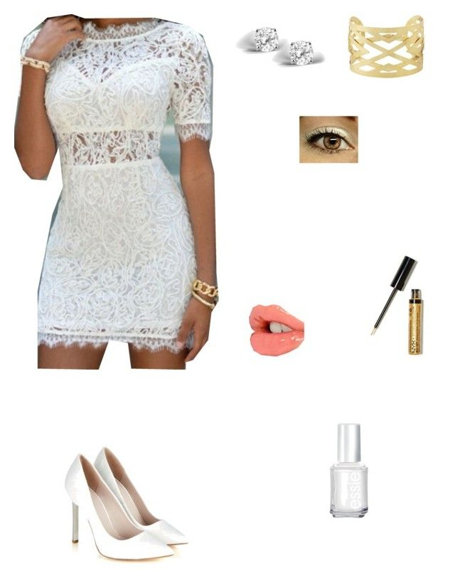 """""""White & Gold Perfect"""" by angelicarorie36 ❤ liked on Polyvore"""