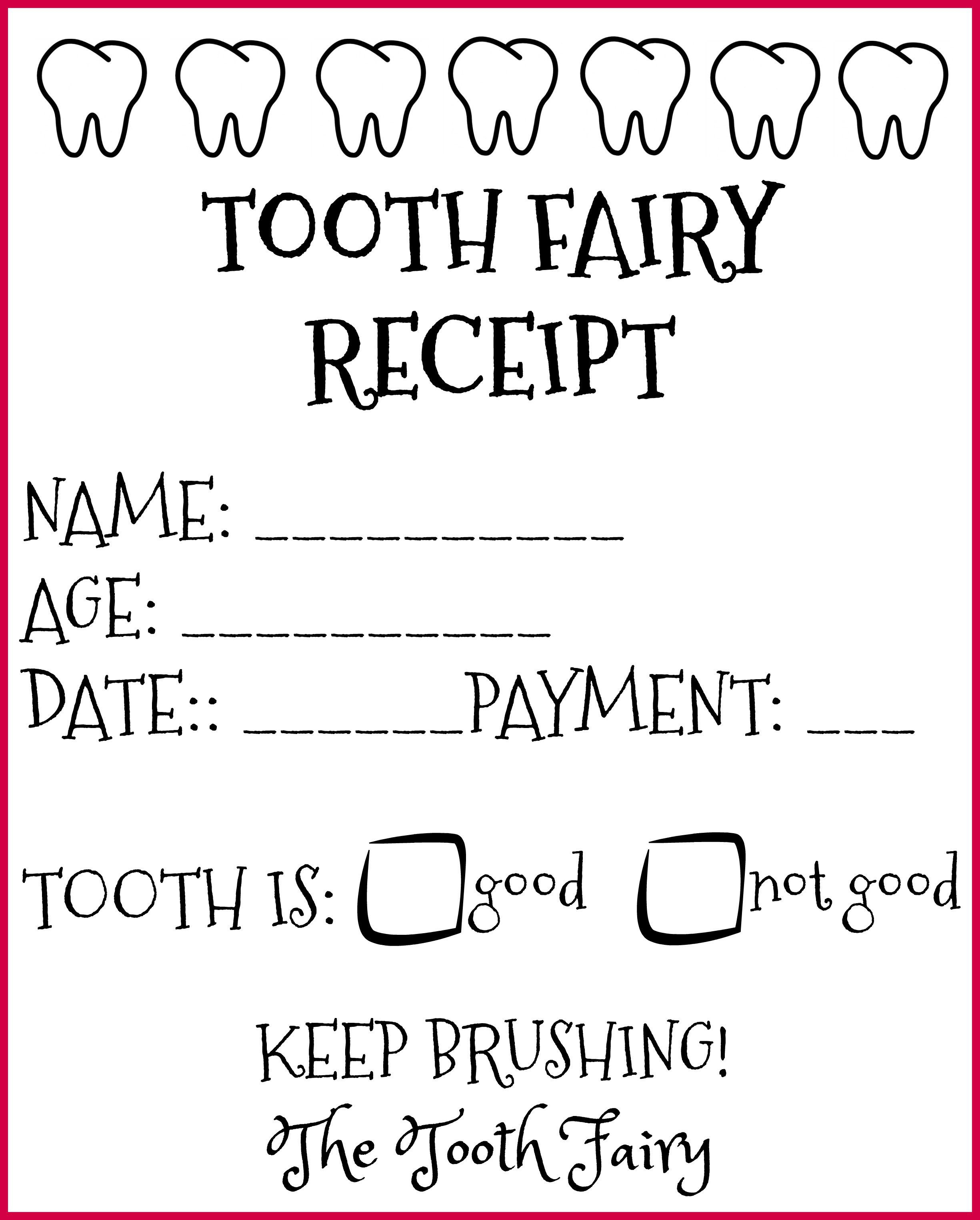 The Tooth Fairy Came! Free Printable Tooth Fairy Receipts in Spanish and English - LadydeeLG #toothfairyideas