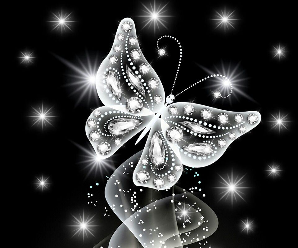 Silver Sparkle Butterfly Butterfly Wallpaper Butterfly Wallpaper Iphone Butterfly Painting