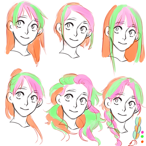 hair tutorial?! please 3 Drawings, Sketches, How to