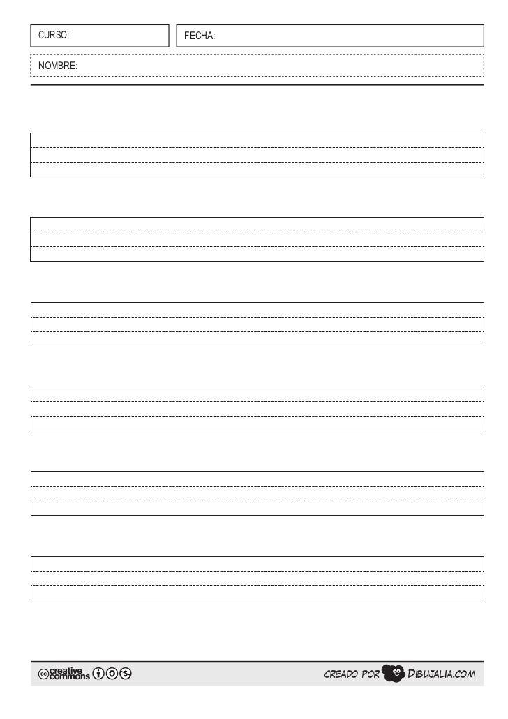 Pautas para escribir: montessori, cuadrícula... | Plantillas para ...