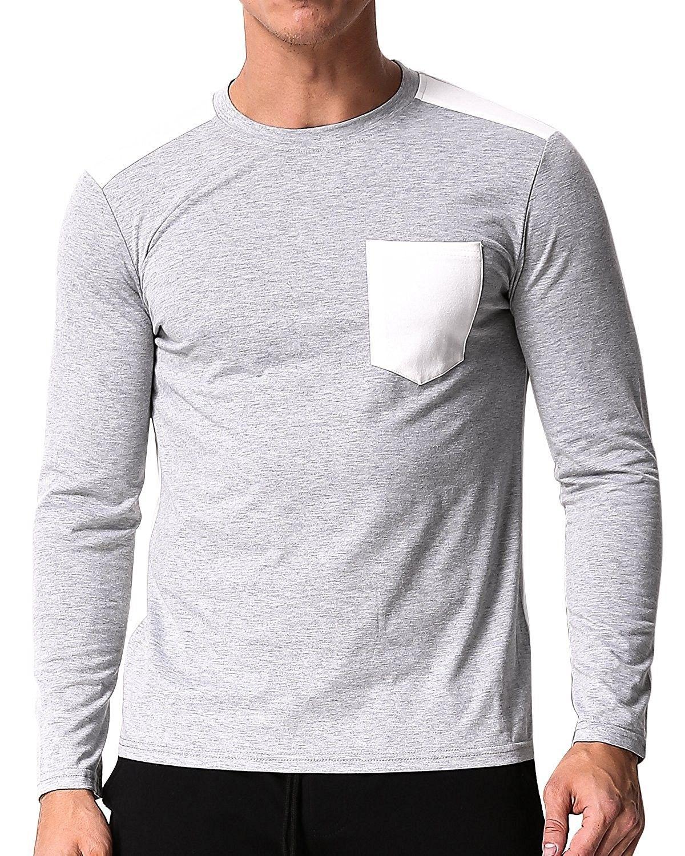 38212411 Men's Shirt Long Sleeve Raglan Baseball T-Shirt Jersey Crew Neck Tee ...