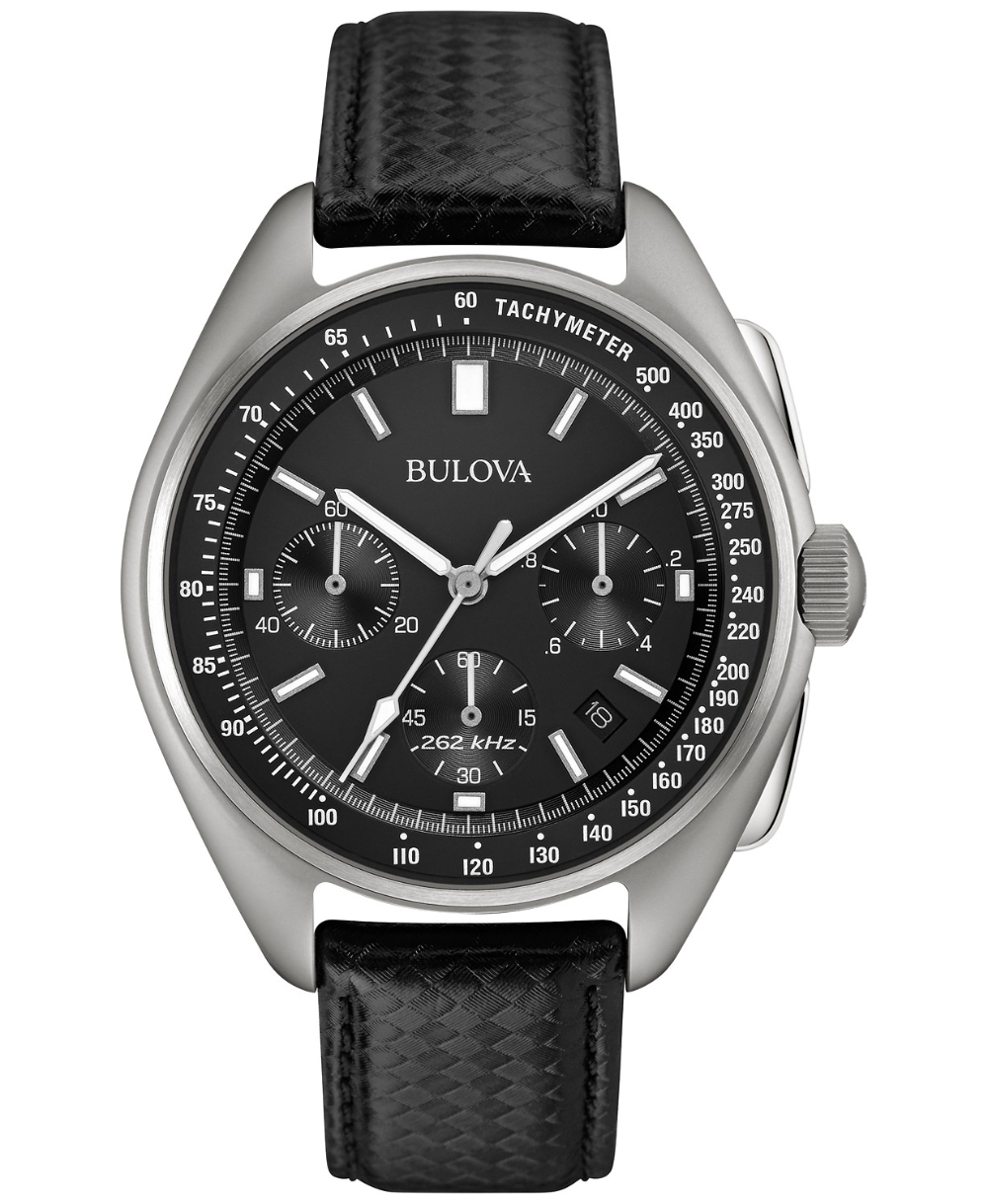 Bulova LIMITED EDITION Men's Special Edition Lunar Pilot Chronograph Black Leather Strap & Nylon Strap Watch 45mm 96B251 & Reviews   All Fine Jewelry   Jewelry & Watches   Macy's Gallery