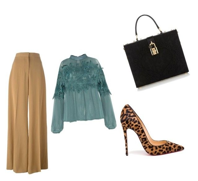 """""""flare"""" by angelflames on Polyvore featuring STELLA McCARTNEY, Christian Louboutin and Dolce&Gabbana"""