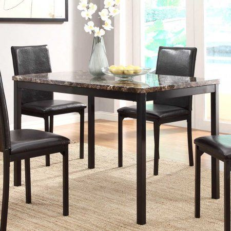 Home Round Dining Room Sets Faux Marble Dining Table Luxury
