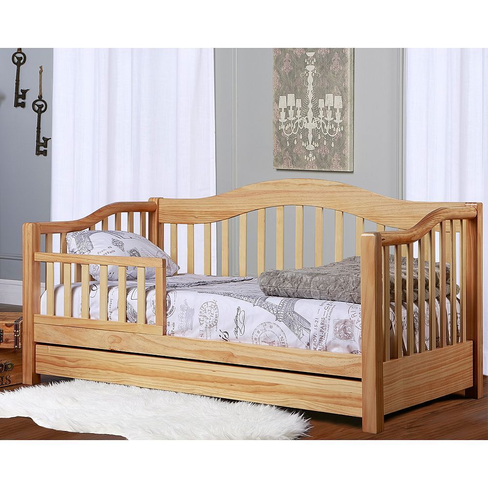 Dream On Me Toddler Day Bed Natural In 2020 Toddler Day Bed