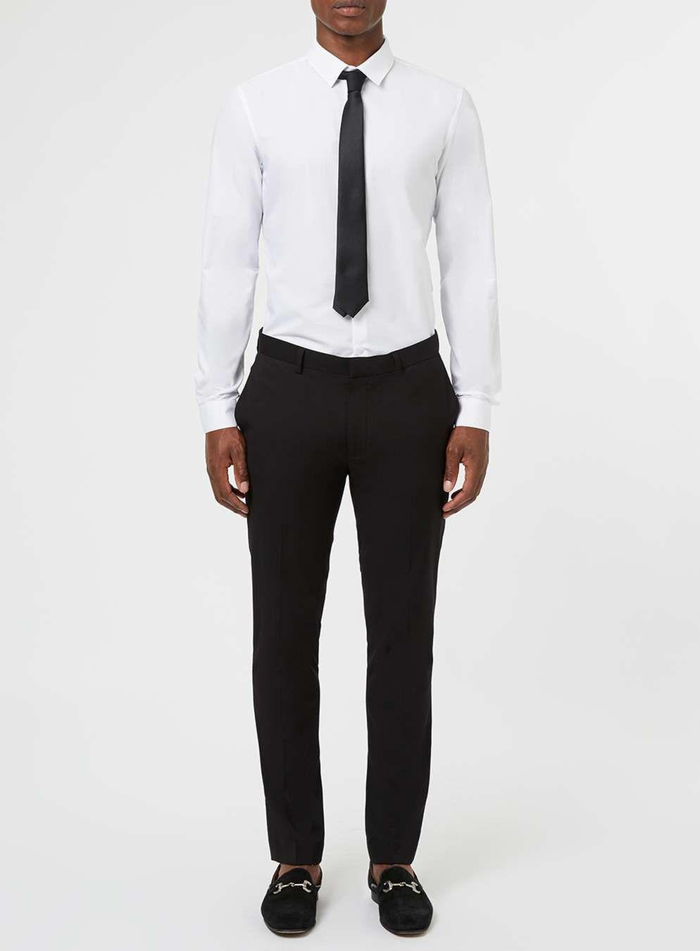 White Dress Shirt And Black Tie Set Men S Collared Shirts Clothing White Shirt Men White Shirt Black Pants White Shirt Dress [ 1350 x 994 Pixel ]