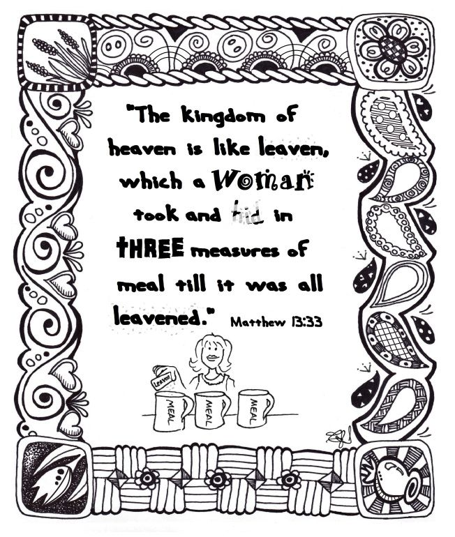 The Parable Of The Leaven Birthday Coloring Pages Happy