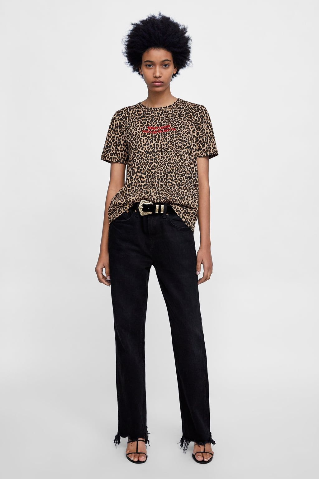 d79a468c9df3 CAMISETA ESTAMPADO ANIMAL in 2019 | Clothes I like | Animal print t ...