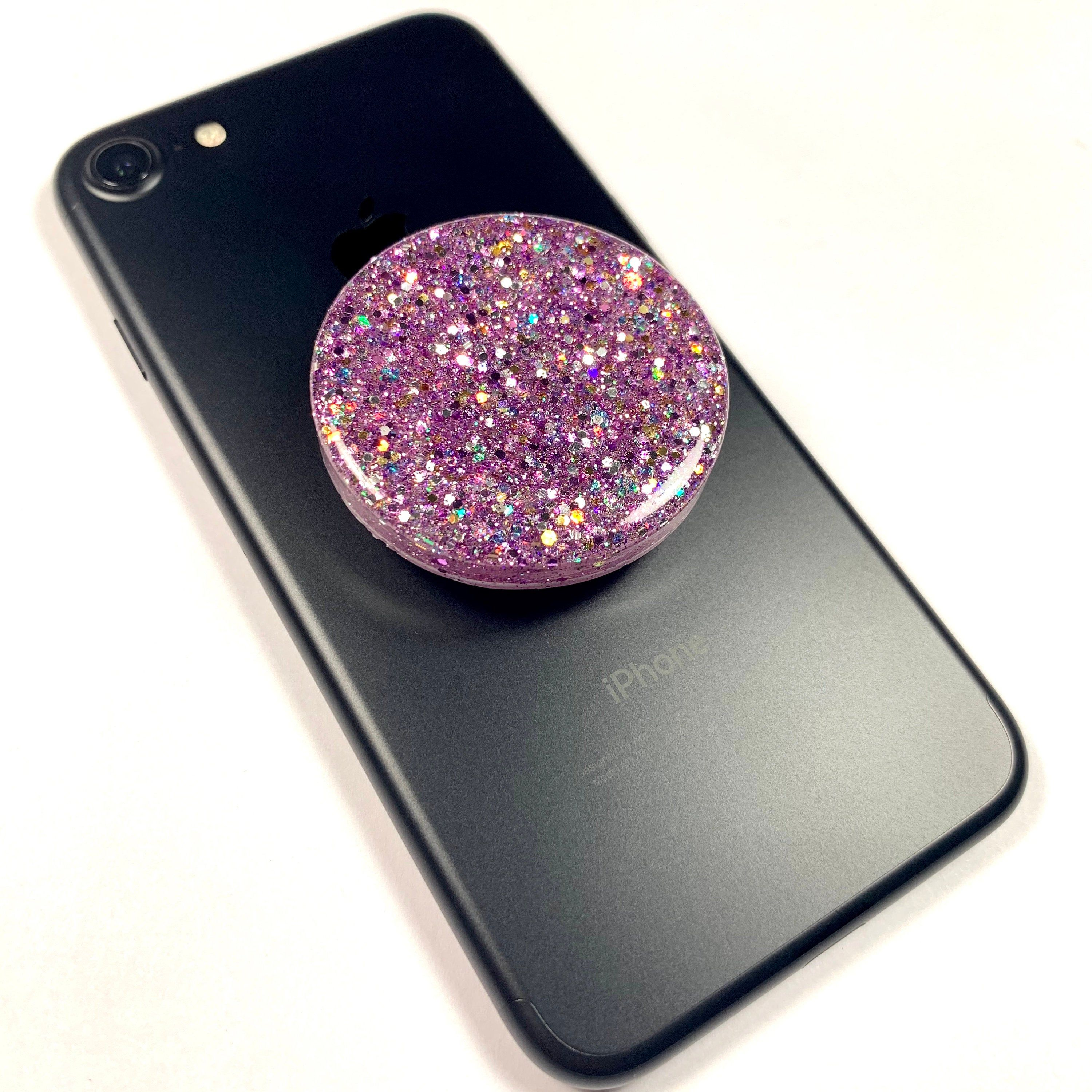 Purple Glitter  Mica Resin Phone Stand Can be Personalized FREE SHIPPING