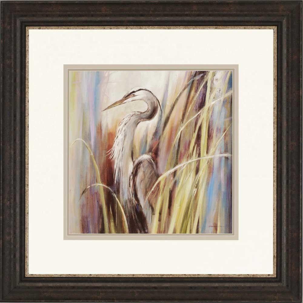 Coastal Heron by Heighton Framed Print of Painting