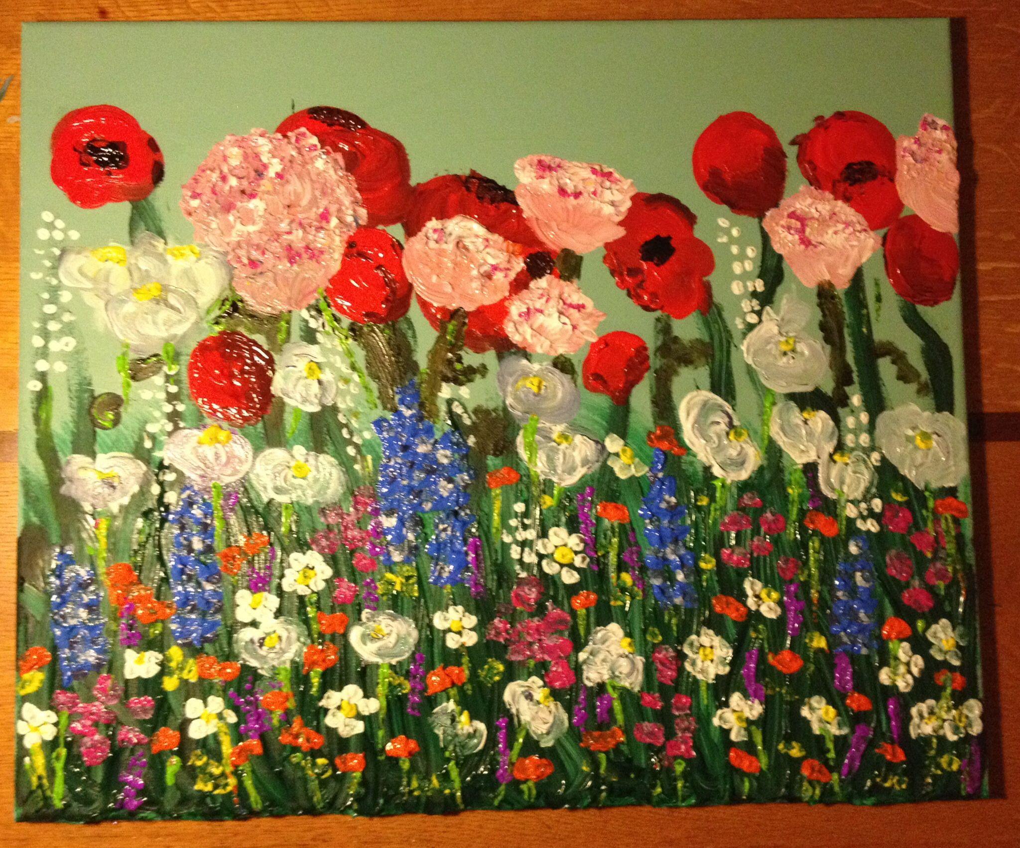 Lente, bloemen, veldje, yeah!