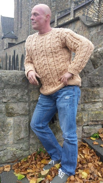 The Cable Guy Sweater English Version Pinterest Cable Crochet