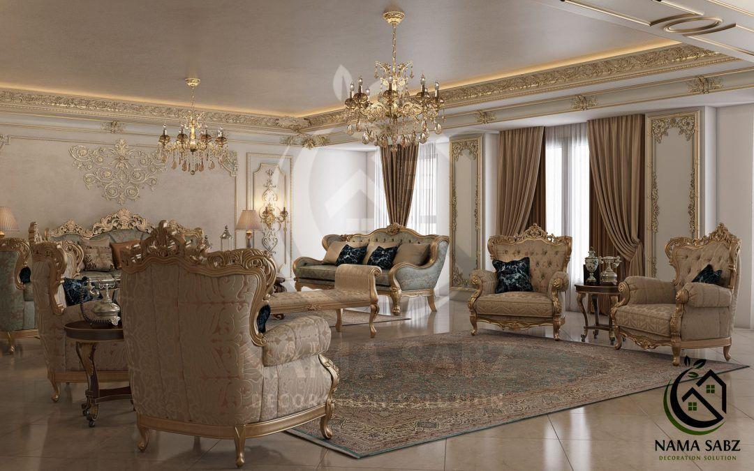 طراحی و مدل سازی دکوراسیون داخلی منزل سبک کلاسیک سعادت آباد شرکت دکوراسیون داخلی نما سبز Home Home Decor Furniture