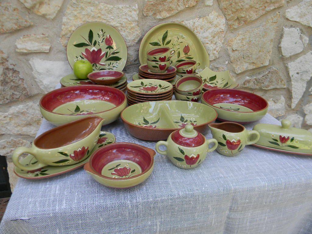 Vintage Mid Century Stangl Pottery Magnolia Pattern Dinnerware Set. & Vintage Mid Century Stangl Pottery Magnolia Pattern Dinnerware Set ...
