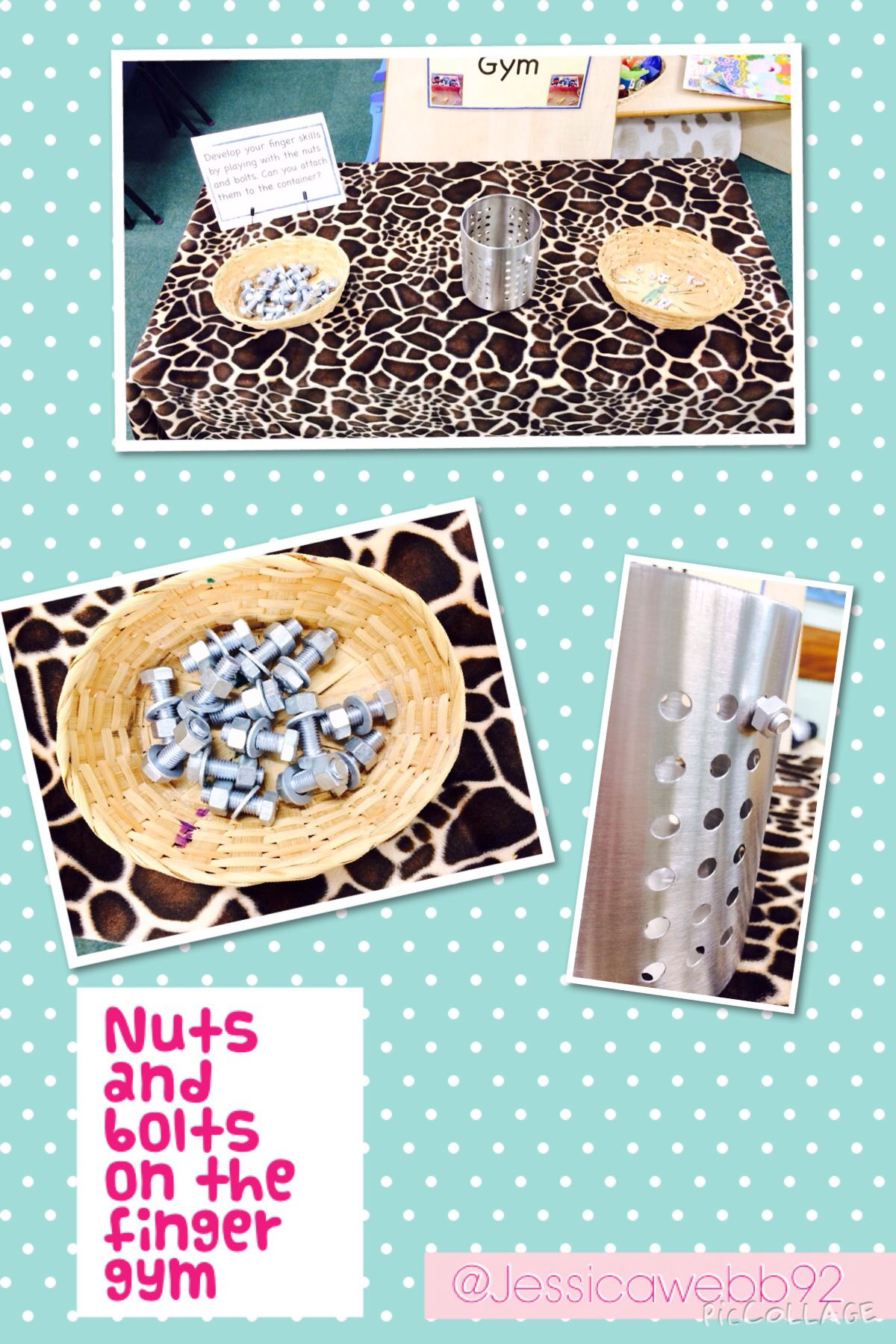 Nuts And Bolts On The Finger Gym Eyfs