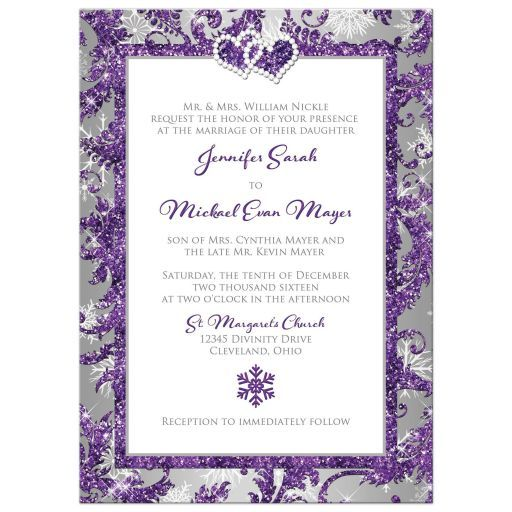 Winter Wedding Invitations Cheap: Winter Wonderland Wedding Invitation