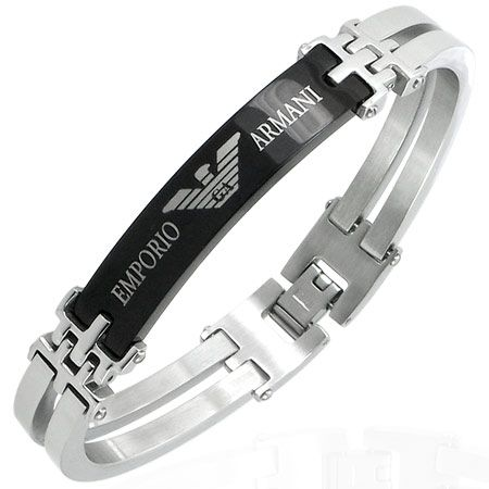 36d1e966414 Image detail for -Mens EMPORIO ARMANI stainless steel bracelet ...