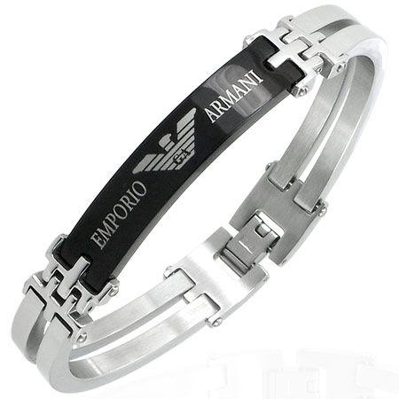9219071d5fd Image detail for -Mens EMPORIO ARMANI stainless steel bracelet ...