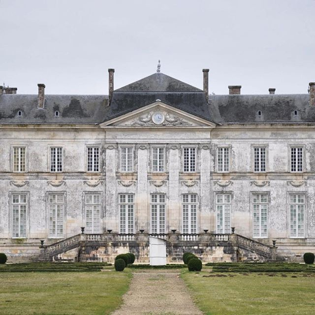 Castle Buzay, La Jarne, Charente-Maritime, France, built between 1771 and 1776, to plans of Parisian architect Nicolas Ducret for Pierre-Étienne Harouard