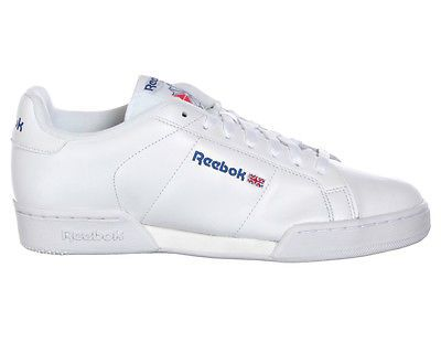 Reebok Classic Shoes NPC II White White Blue Mens Size New