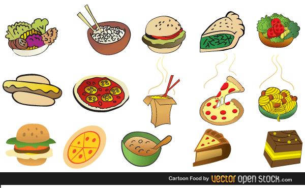 Cartoon Foods Free Vector Images Food Cartoon Free Vector Art Cute Cartoon Food
