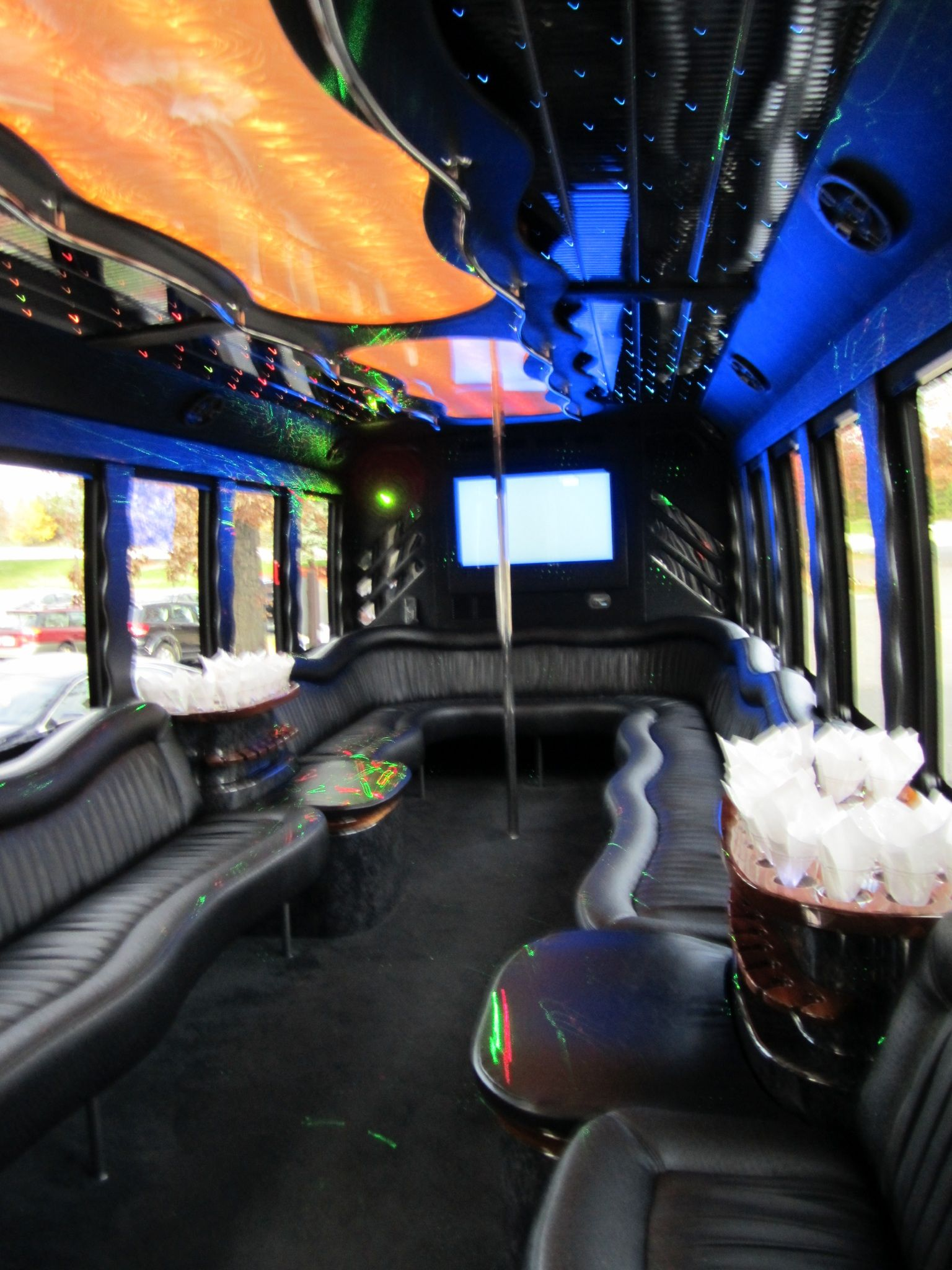 24 passenger party bus action limo