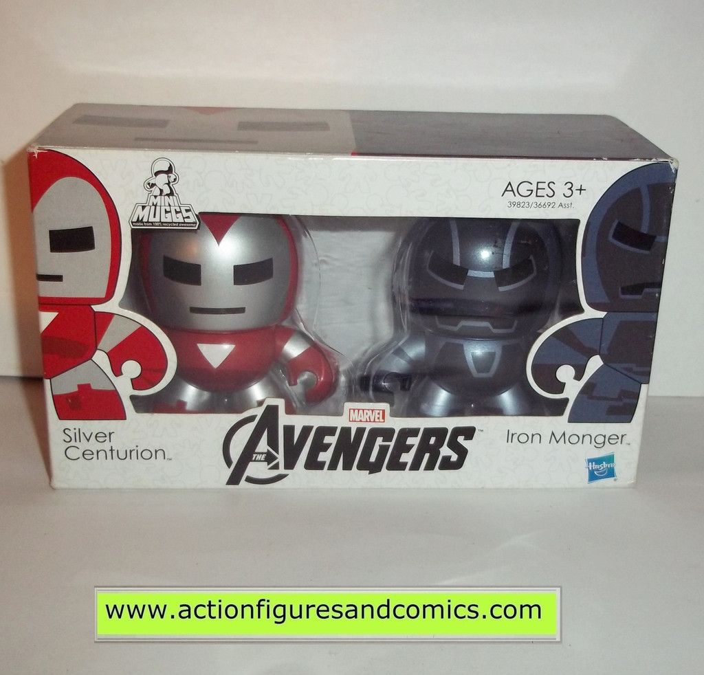 mighty muggs marvel universe IRON MAN MONGER SILVER CENTURION avengers movie mini