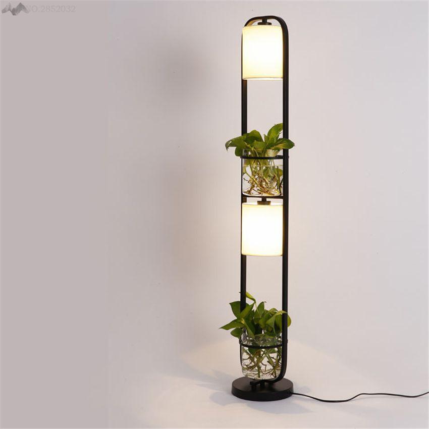 2019 Modern Art Creative Plants Floor Lamp Plasscloth 640 x 480