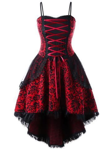 plus size red vintage goth corset dress corsetdress