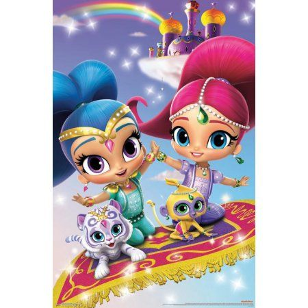 12 FIGURES AND A PLAYMAT NICKELODEON SHIMMER AND SHINE BUSY BOOK