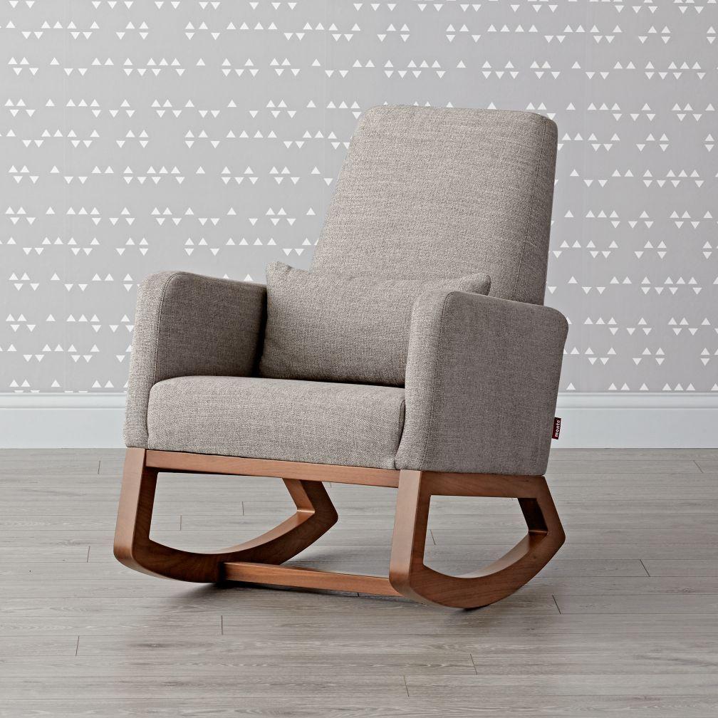 Deep And Comfy Our Modern Joya Rocking Chair Gently Rocks