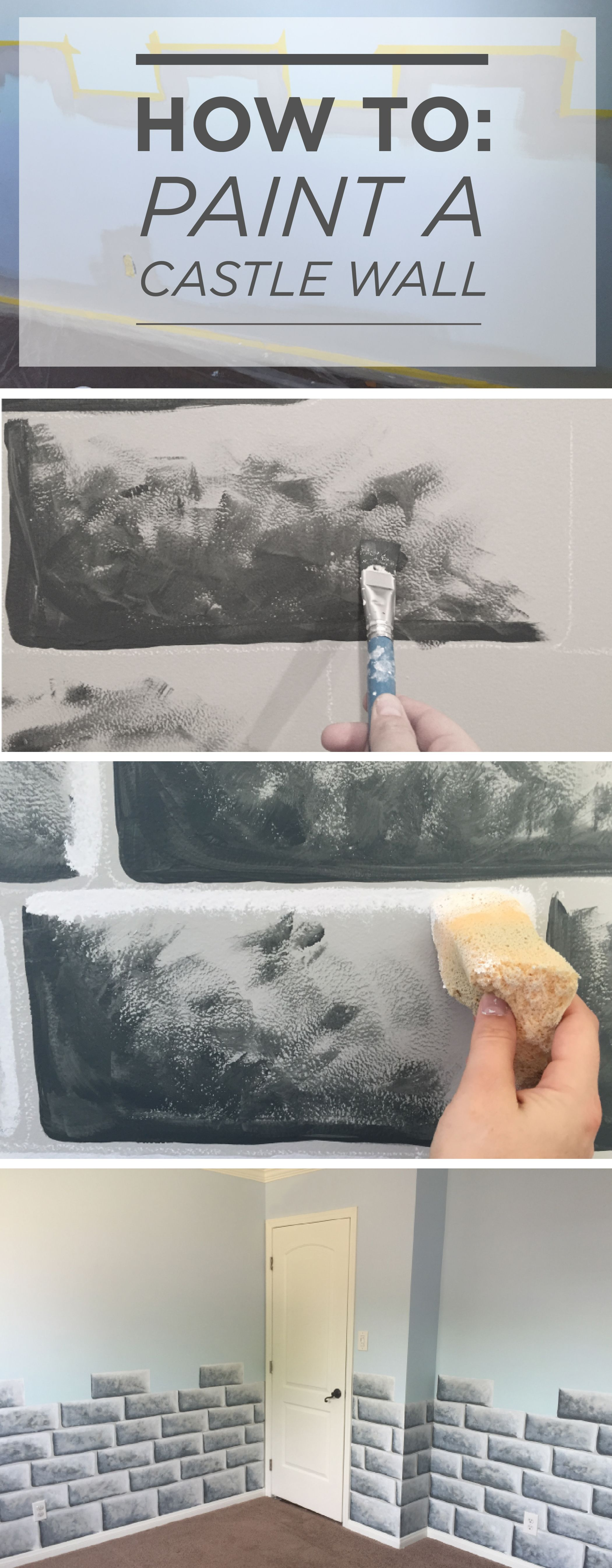 How To Paint A Castle Wall Castle Wall Castle Rooms