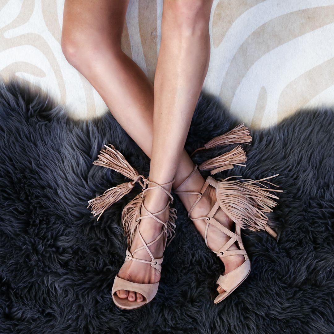Marissa Webb Fringe Sandals
