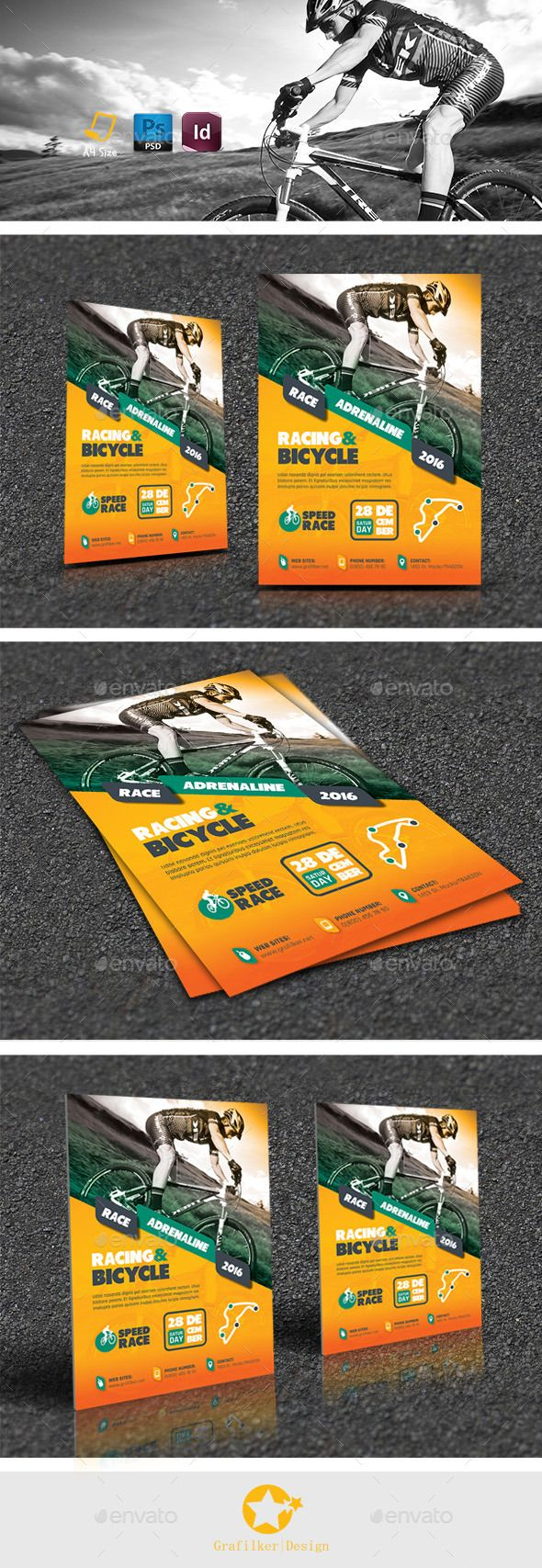 Bicycle Racing Flyer Templates   Flyer template, Racing and Flyers