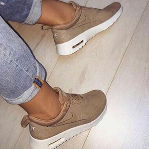 Nike Wmns Nike Air Max Thea J Womens Sneaker Shoes Beige