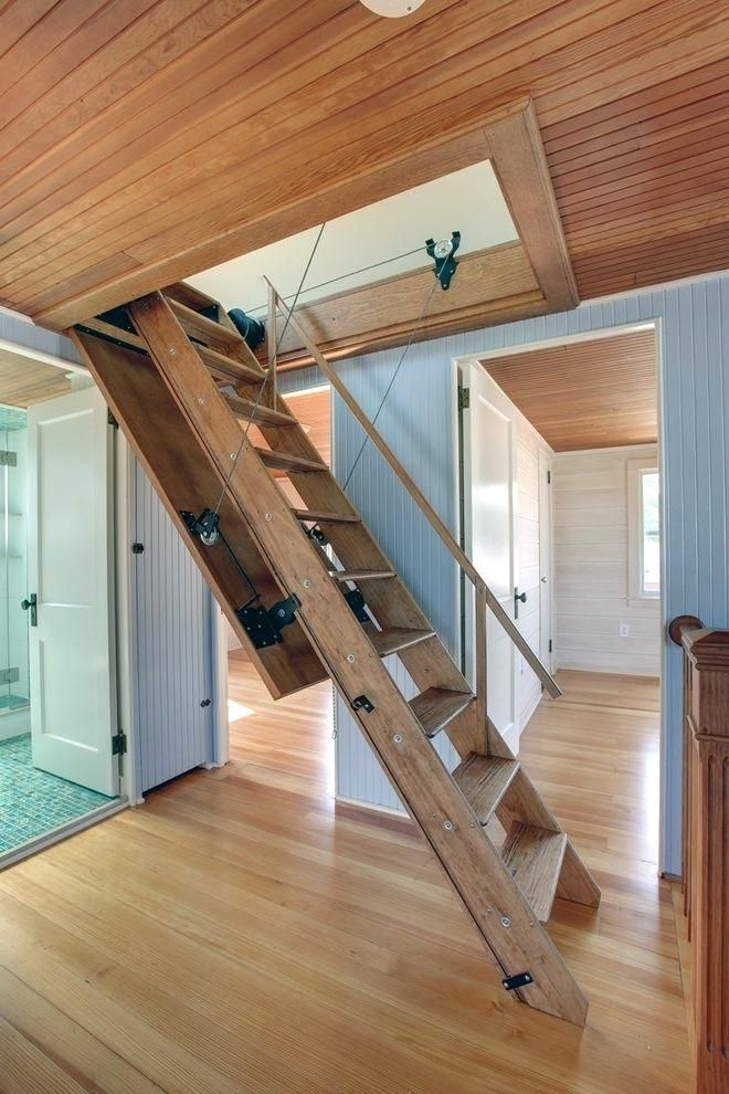 Image Result For Drop Down Retracting Stairs Stairs Attic Stairs Pull Down Attic Stairs