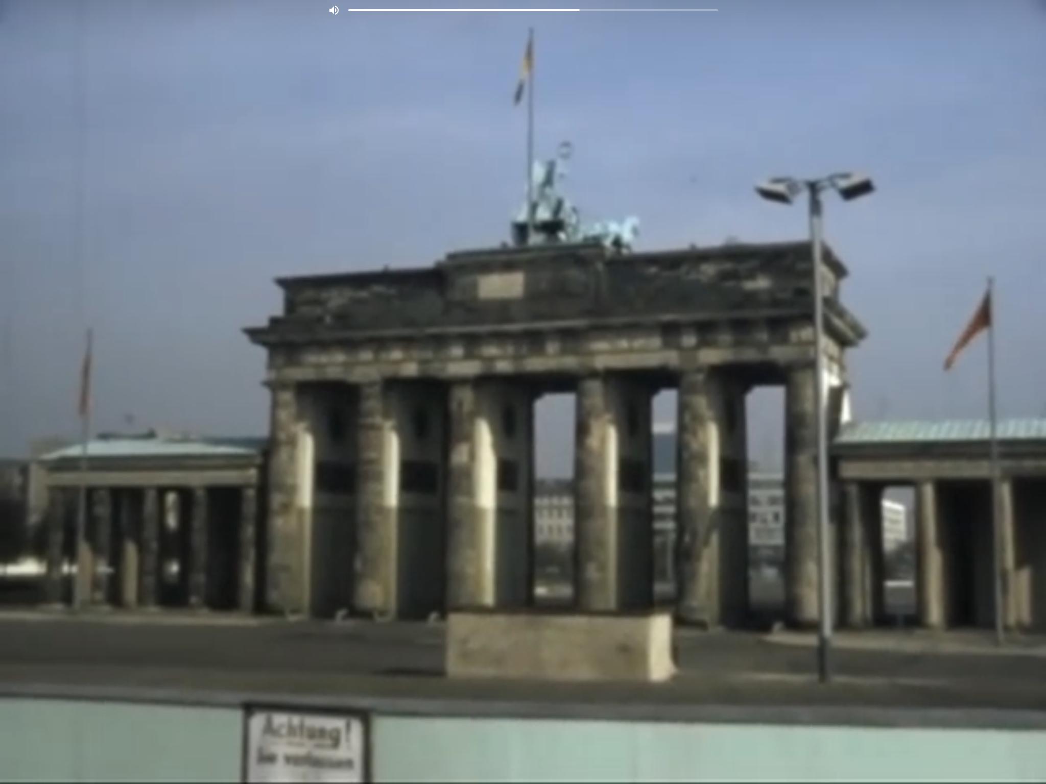 Brandenburg Gate From West Berlin 1978 Brandenburg Gate West Berlin Berlin Wall