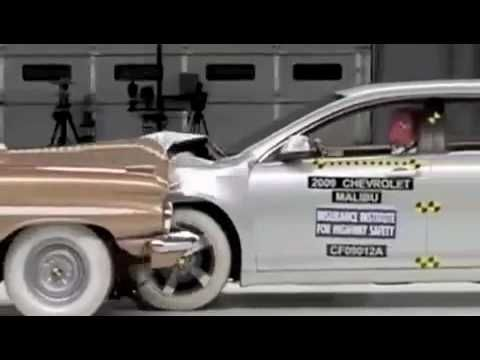 2009 Chevy Malibu Vs 1959 Bel Air Crash Test Just Because It S