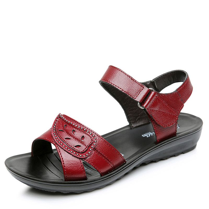 >> Click to Buy << KUIDFAR Summer Women Sandals Shoes Woman Genuine Leather Soft Open Toe Sandals Casual Flat Women Shoes  #Affiliate
